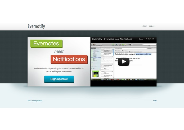 Evernotify - Evernotes meet Notifications – screenshot 2
