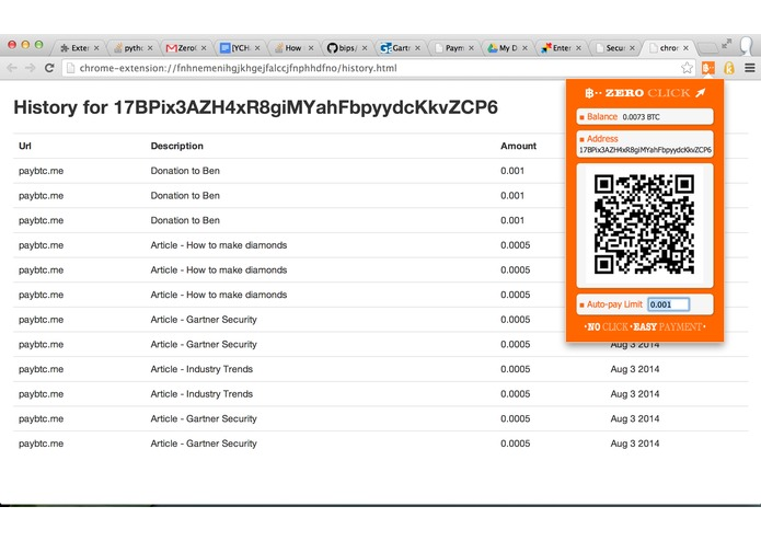 Zero Click Bitcoin Micropayments – screenshot 4