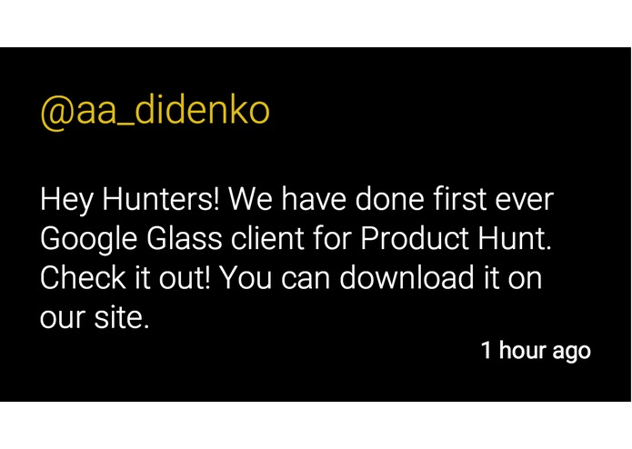 Product Hunt Glass – screenshot 3
