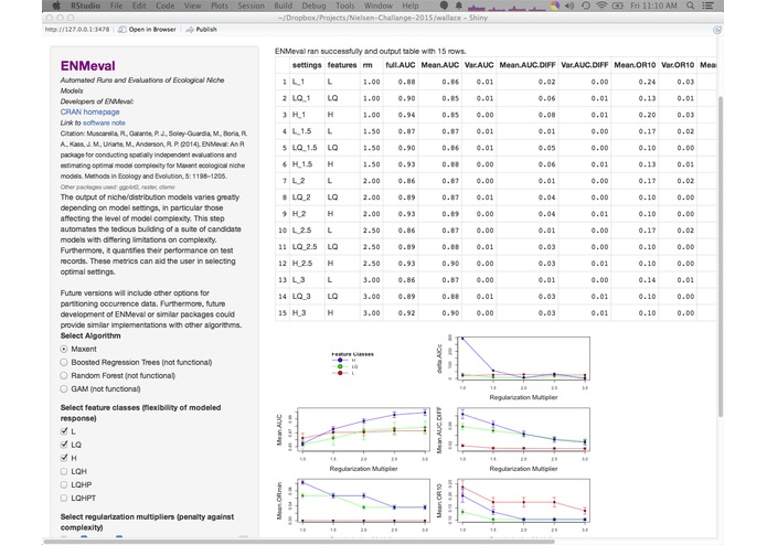 Wallace (beta v0.1): Harnessing Digital Biodiversity Data for Predictive Modeling, Fueled by R – screenshot 4