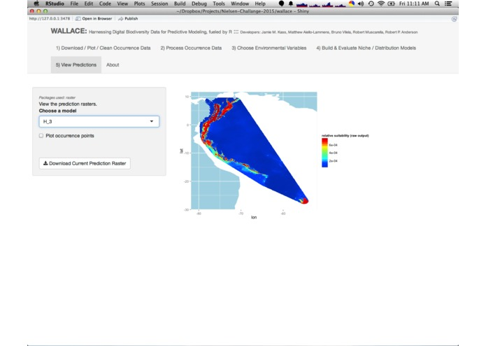 Wallace (beta v0.1): Harnessing Digital Biodiversity Data for Predictive Modeling, Fueled by R – screenshot 5