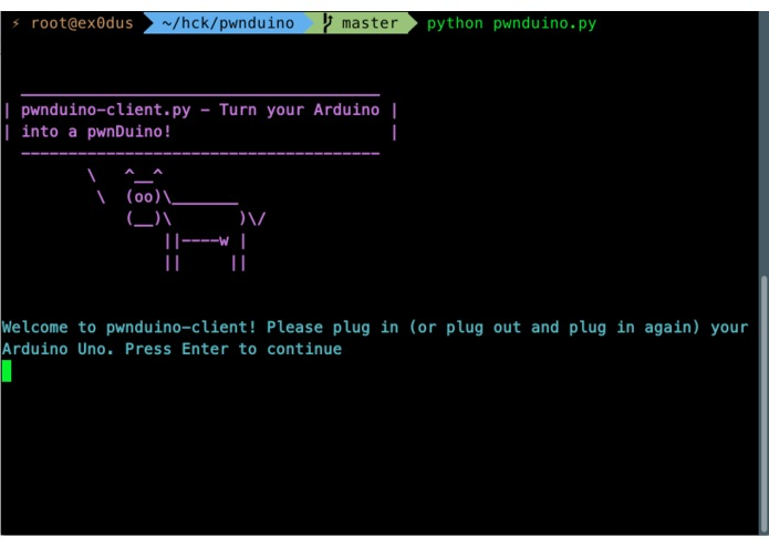 pwnduino – screenshot 1