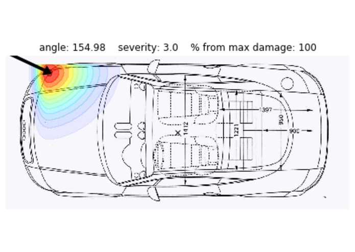 Visualization of impact damage from a car sensor – screenshot 2