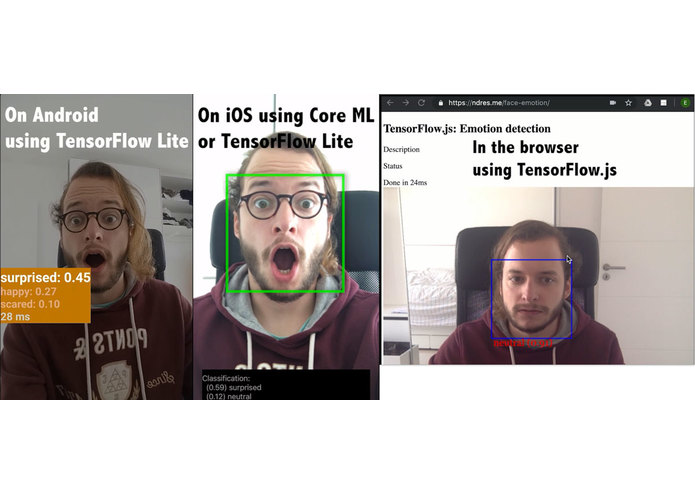 TensorFlow 2 on Any Device (Emotion Recognition Demo) – screenshot 1