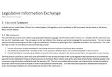 Legislative Information Exchange XML Schema Conversion