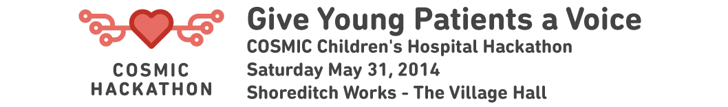 Give Young Patients a Voice: COSMIC Children's Hospital Hackathon