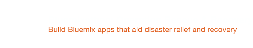 Bluemixathon: Operation Rescue & Recovery