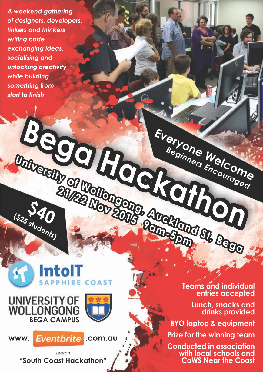 IntoIT South Coast Hackathon (Learners Welcome)