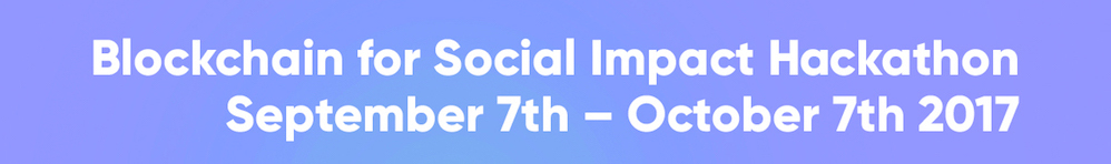 Blockchain for Social Impact Hackathon