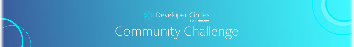 2019 Developer Circles from Facebook Community Challenge
