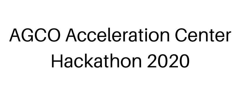 AGCO Acceleration Center Hackathon 2020