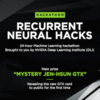 Recurrent Neural Hacks!
