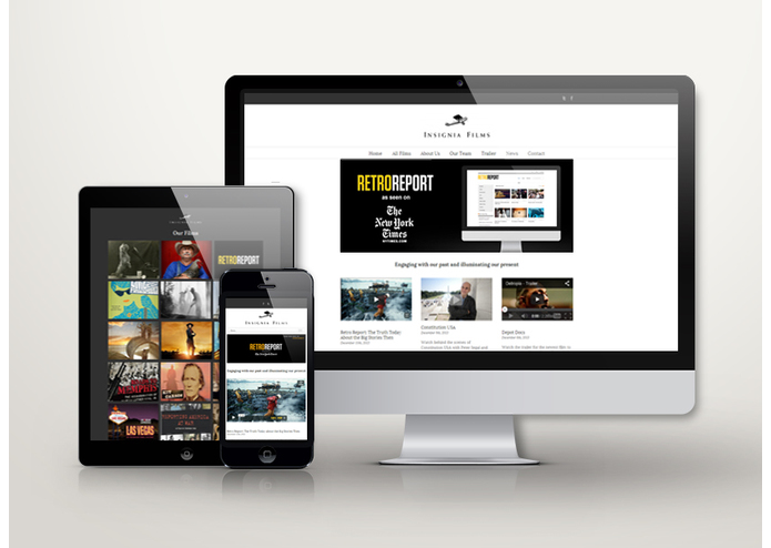 Insignia Films Website – screenshot 1