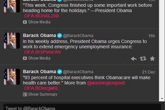 Tweets By @BarackObama