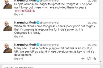 Tweets By @narendramodi
