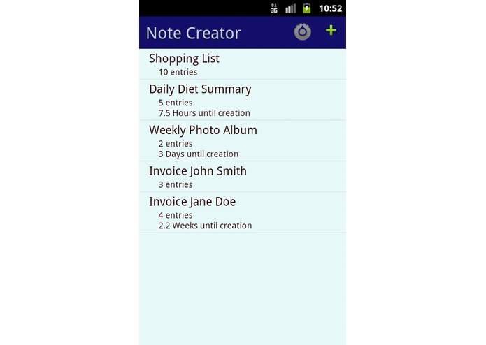 Note Creator – screenshot 1