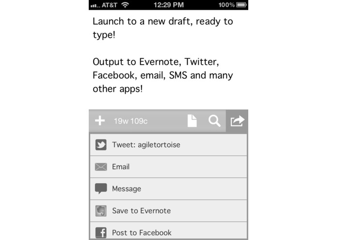 Drafts for iPhone – screenshot 1