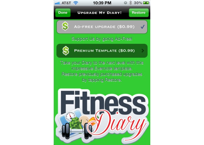 My Fitness Diary – screenshot 5
