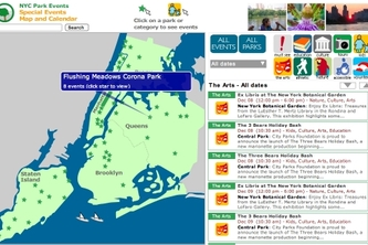 NYC Park Events Map