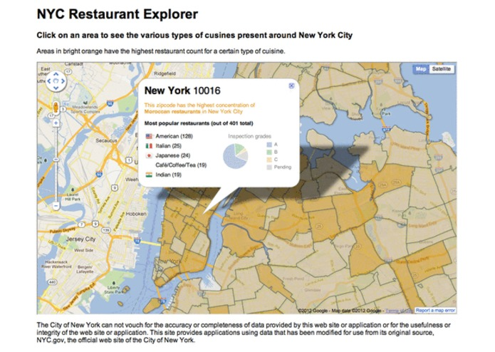 NYC Restaurant Explorer – screenshot 1