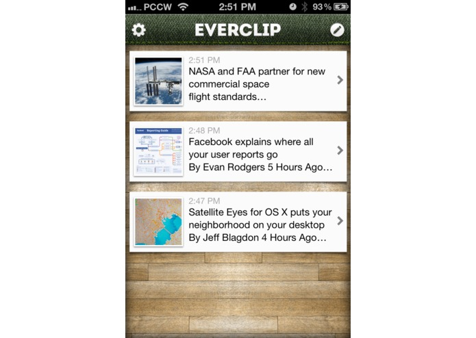 EverClip – screenshot 1