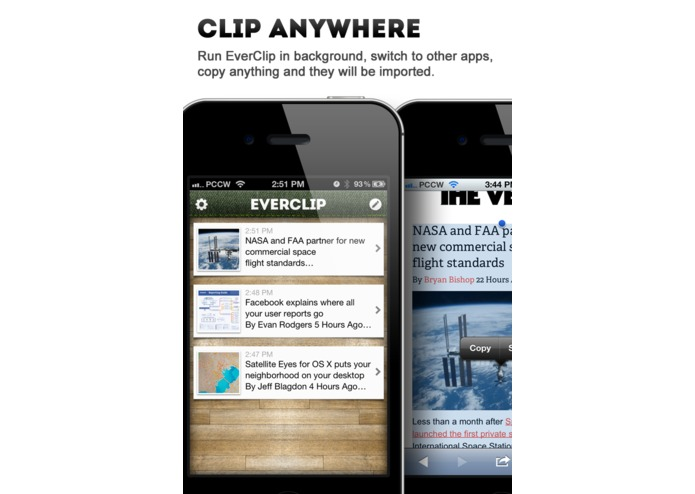 EverClip – screenshot 2