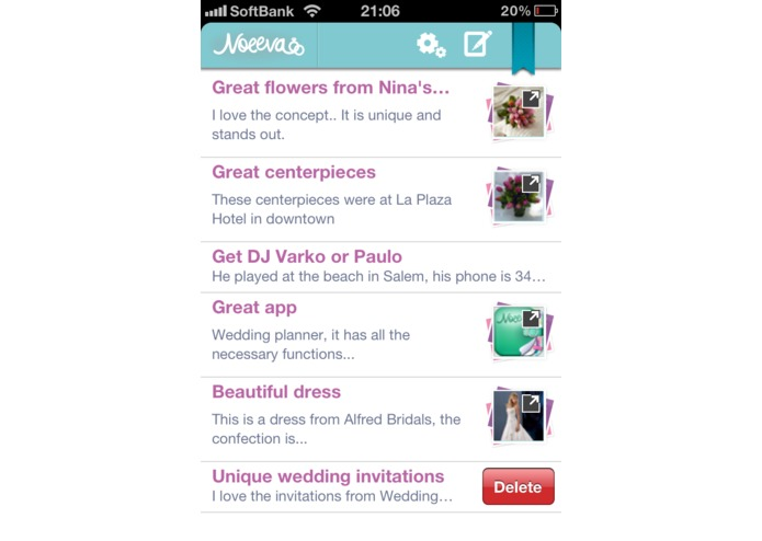 Wedding Photo Notes – screenshot 1