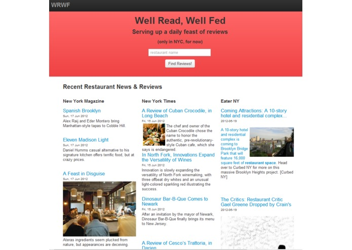 Well Read, Well Fed – screenshot 1