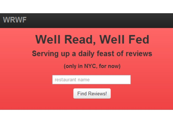 Well Read, Well Fed – screenshot 2