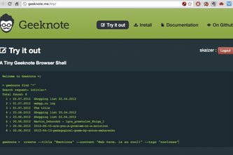 Geeknote - a command line client for Evernote