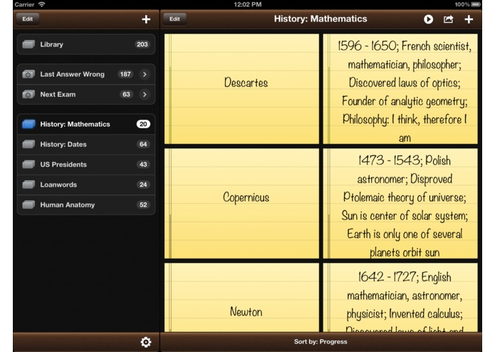 Flashcards Pro for iPad – screenshot 1