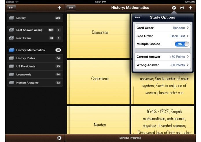 Flashcards Pro for iPad – screenshot 5