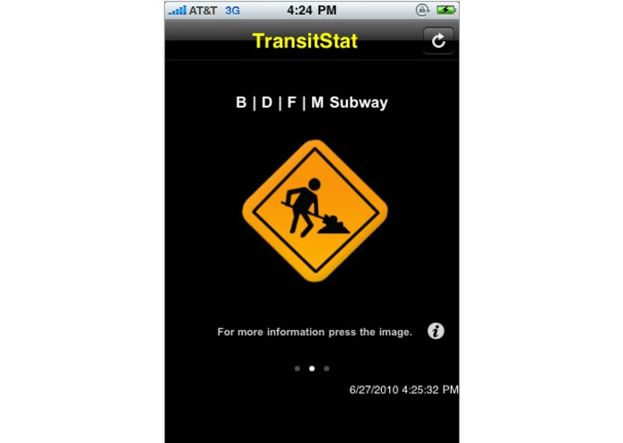 TransitStat – screenshot 2