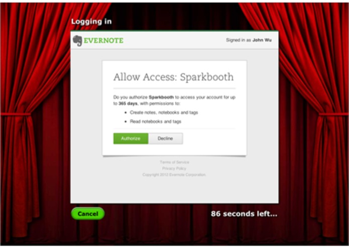 Sparkbooth - Evernote Enabled Photo Booth! – screenshot 4