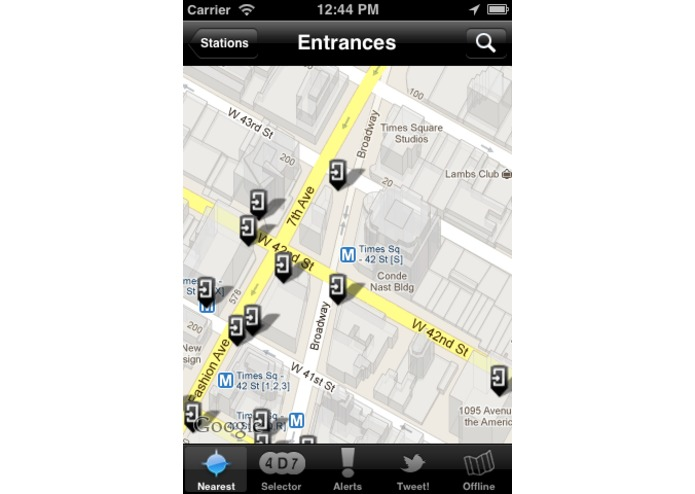 Free NYC Subway Locator – screenshot 2