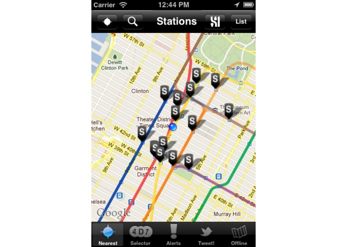 Free NYC Subway Locator – screenshot 3