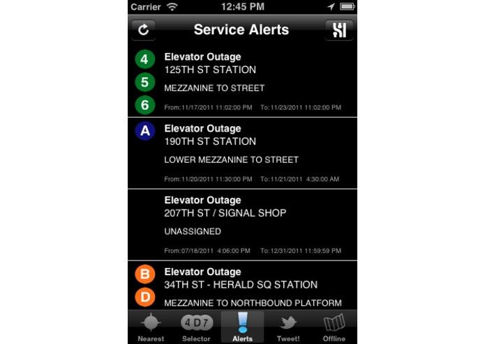 Free NYC Subway Locator – screenshot 4