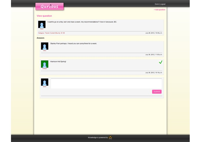 Qurious – screenshot 2
