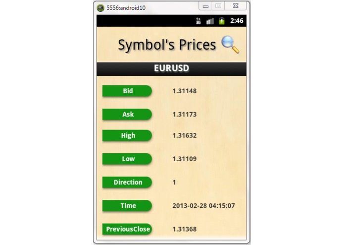 ForexTrading Android App – screenshot 5