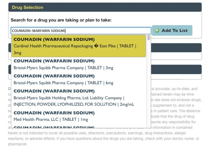 Drug Information Portal – screenshot 2