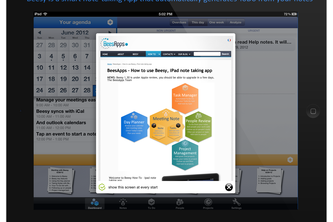 Beesy HD for iPad - smart note taking and automated ToDo