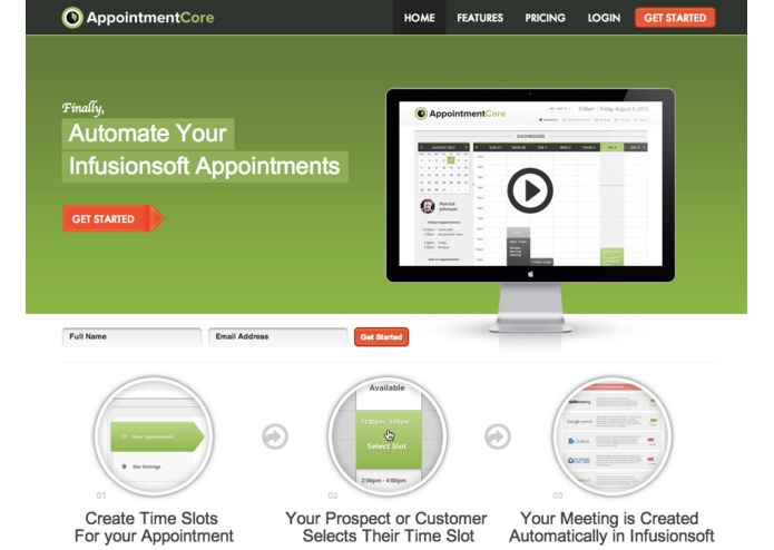 AppointmentCore: Automate Your Infusionsoft Appointments – screenshot 1