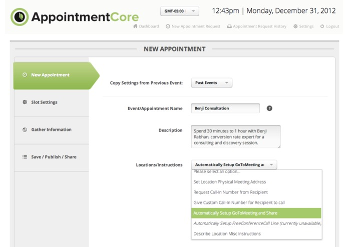 AppointmentCore: Automate Your Infusionsoft Appointments – screenshot 3