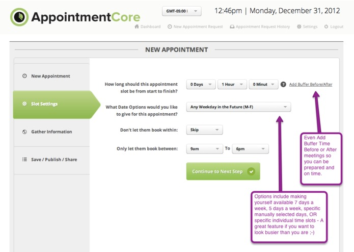AppointmentCore: Automate Your Infusionsoft Appointments – screenshot 4