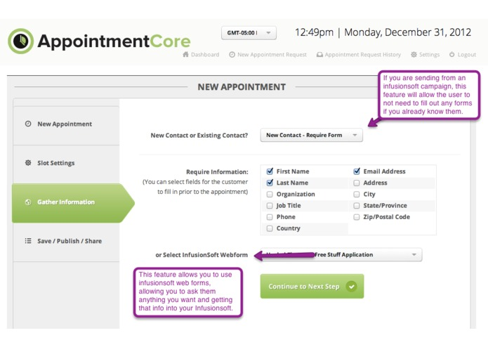 AppointmentCore: Automate Your Infusionsoft Appointments – screenshot 5