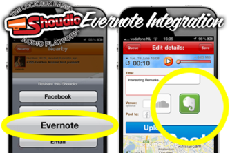 Remember audiomoments on Shoudio with Evernote.