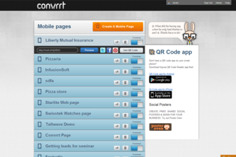 Mobile Landing Page Creator - Mobile Convrrt