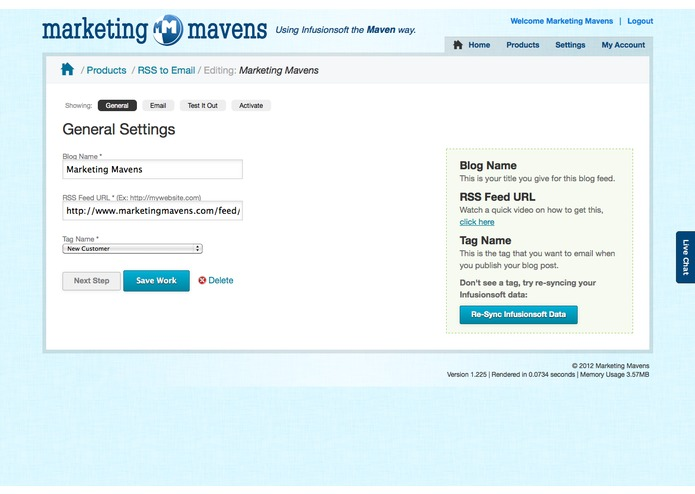 Maven RSS to Email – screenshot 1