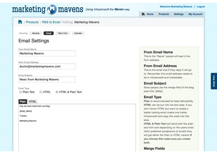 Maven RSS to Email – screenshot 2