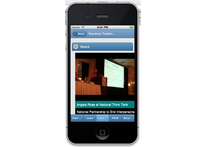 PAVE and Security on Campus' Mobile Application to Shatter the Silence of Sexual and Dating Violence! – screenshot 4